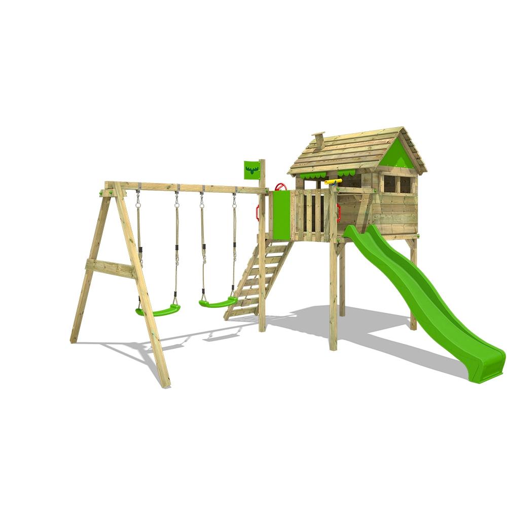 Image of Fatmoose Parque infantil FunFactory Fit XXL con columpio